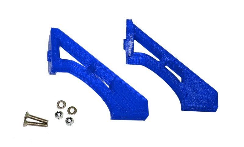 JS-Parts ultraflex Spoilerhalter für Tekno ET48 2.0 blau