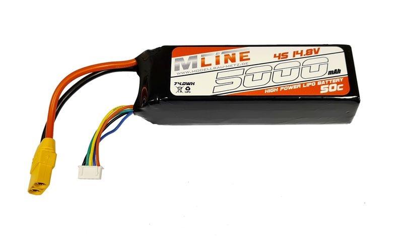 MLine Power Racing LiPo Akku 50C - 5000MAH - 4S -