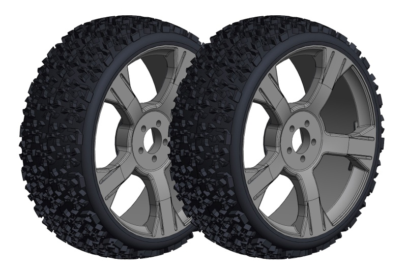 Team Corally Off-Road 1/8 Buggy Tires - Ninja - Low Profile