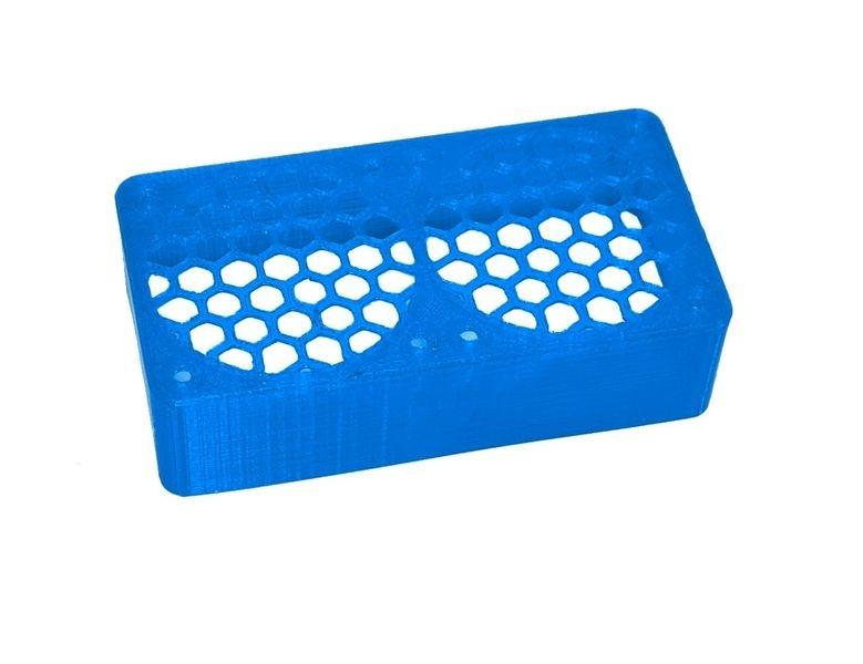 JS-Parts ultraflex Lüftergitter 2x40x20 geschlossen blau