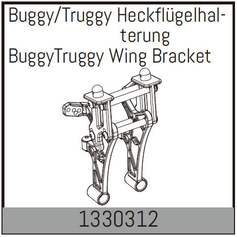 Absima Buggy/Truggy Heckflügelhalterung