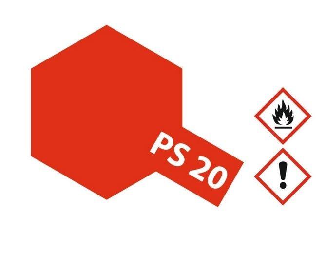 Tamiya Lexanlack PS 20 leucht-rot
