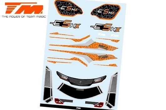Team Magic Aufkleber - E5 HX - Orange