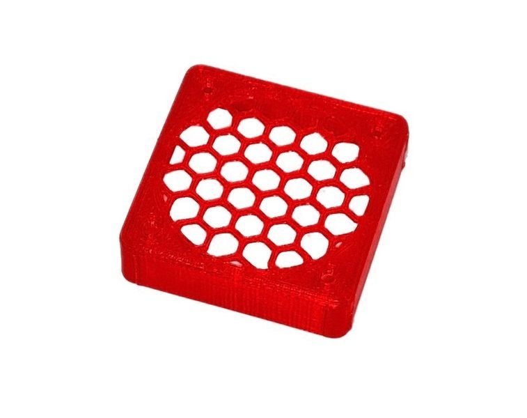 JS-Parts ultraflex Lüftergitter 40x10 geschlossen rot