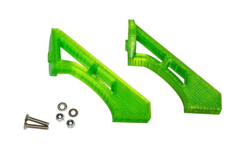 JS-Parts ultraflex Spoilerhalter für Tekno ET48 2.0 grün