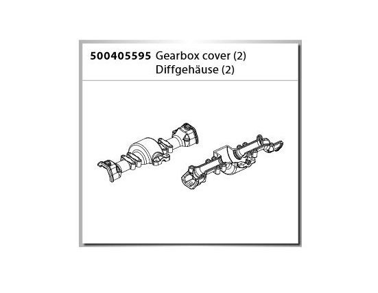 Carson X-Crawlee Pro Gearbox Cover/Diff.Gehäuse (2)