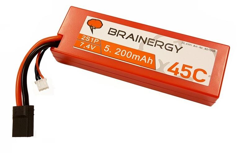 Yuki Model Brainergy LiPo 2s1p 7.4V 5200mAh 45C