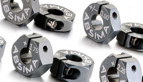 Absima Alu 7075 T6 Radmitnehmer 12mm Offset 0mm 1:10, 2 Stk.