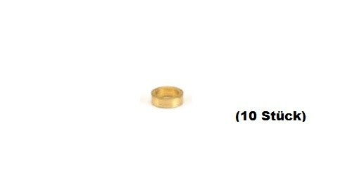NSR Axle Spacers/Achsdistanzen  3/32 .040 BRASS (10)
