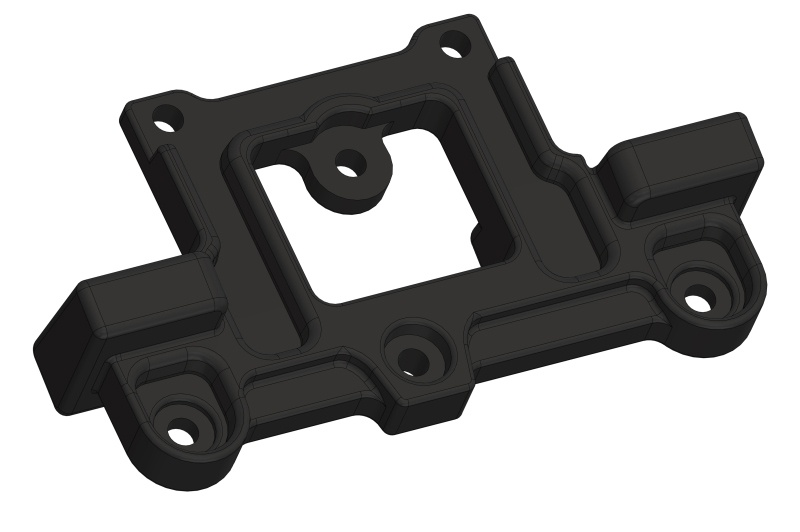 Team Corally Arm Holder - Steering Deck - Composite - 1 pc