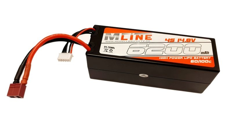 MLine High Power LiPo Akku 60/100C 4S 14.8V 6200mAh