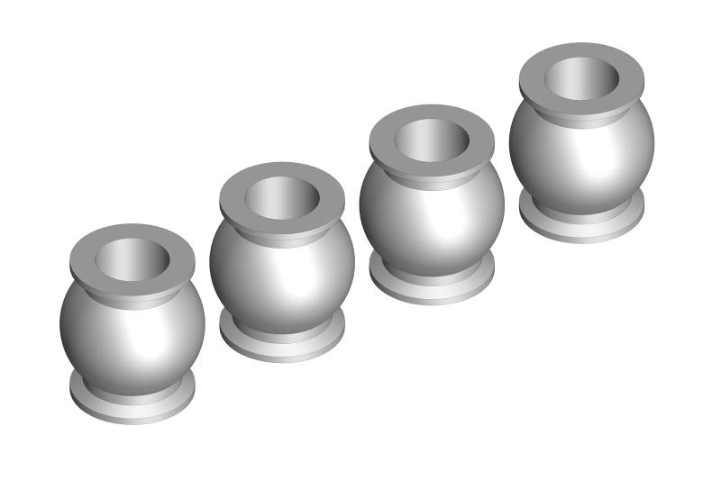 Team Corally Ball - 5.8mm - Steel-4 pcs