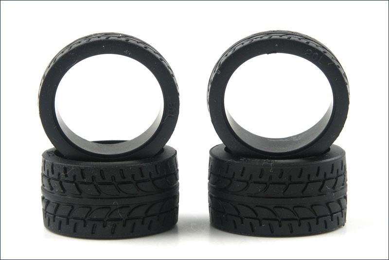 Kyosho Reifen-Set # 1:24 High Grip Racing, Radial 30, breit,