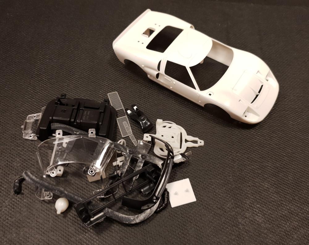 NSR Ford MKII GT40 White Body Kit / Karosserie unlackieriert