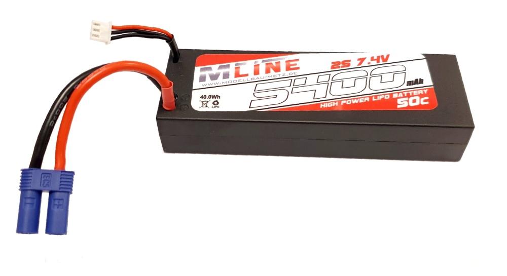MLine High Power LiPo Akku 50C 2S 7,4V 5400mAh