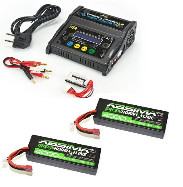 Carson Expert Charger Station 10A +2 xAbsima LiPo 11.1V 45C