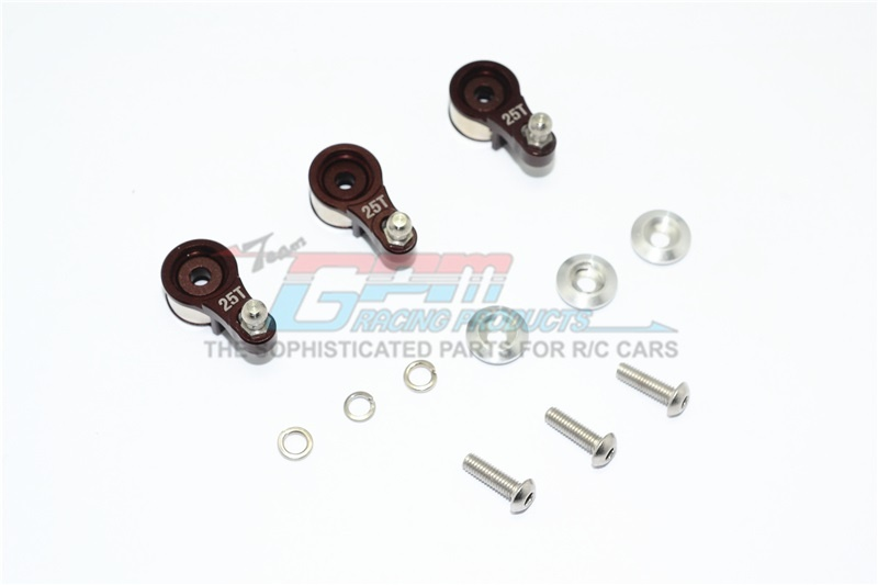 GPM aluminium servo horn w. built - in spring (for locking