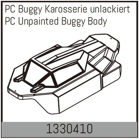 Absima PC Buggy Karosserie unlackiert