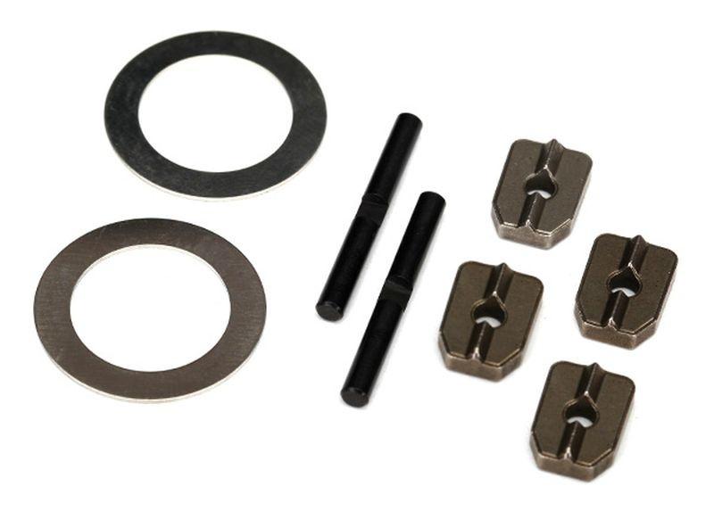 Traxxas Spider gear shaft (2)/ spacers (4)/16x23.5x.5