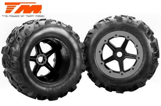 Team Magic Reifen - Monster Truck - montiert auf  5-Spoke