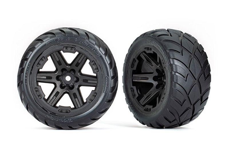 Traxxas Reifen auf Felge 2.8 RXT schwarz / Anaconda