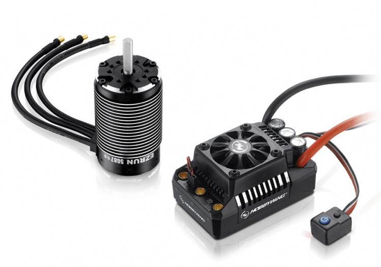 Hobbywing Ezrun Combo MAX5 - 5687SL 1100kV 3-8S 1/5
