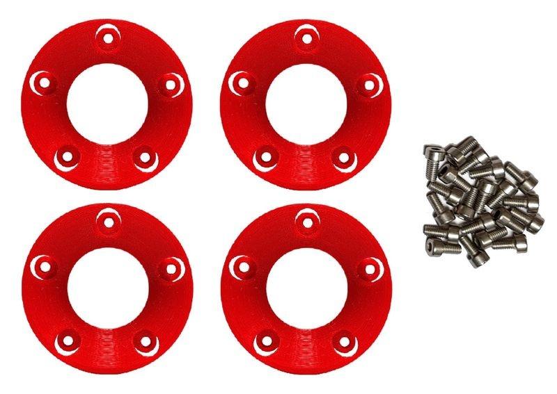 JS-Parts Felgenringe innen für Louise RC MFT 1:5 rot /