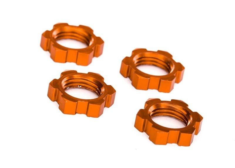 Traxxas Radmuttern, Splined, 17mm Serrated (Orange-eloxiert)