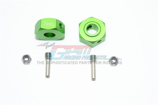 GPM aluminium hex adapters 7mm - 6PC Set for Arrma Granite