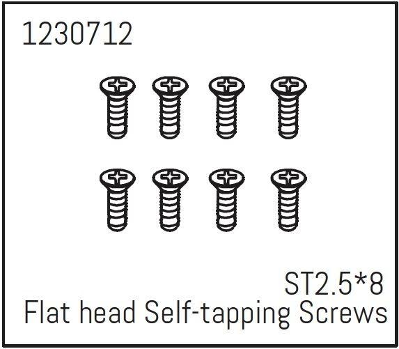 Absima Flachkopfschrauben selbstschneidend ST2,5*8 (8) -