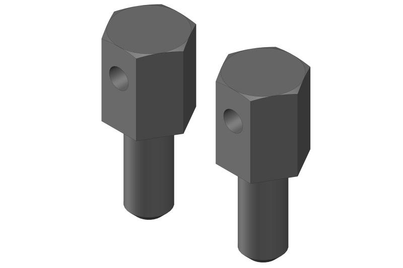 Team Corally Battery Brace Screws - 2 pcs