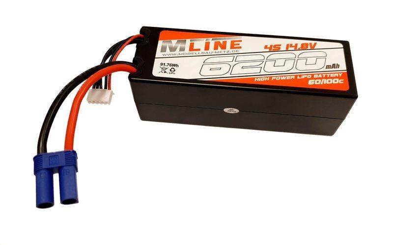 MLine High Power LiPo Akku 60/100C 4S 14.8V 6200mAh