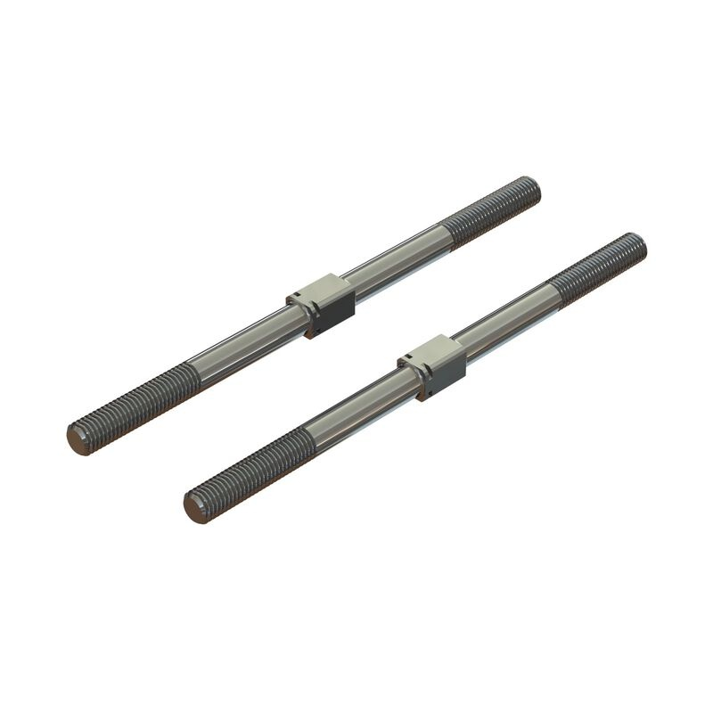 Arrma Steel Turnbuckle M7x130mm Silver (2) (ARA330746)