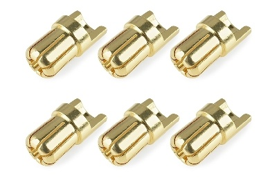 Team Corally - Bullit Steckverbinder 6.5mm - Stecker -
