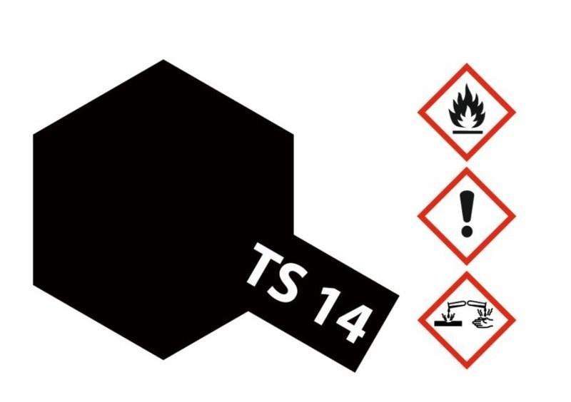 Tamiya Acryl-Sprühfarbe TS-14 Schwarz glänzend 100ml
