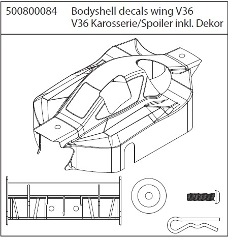 Carson X8 Specter Karosserie,Dekor,Spoiler V36