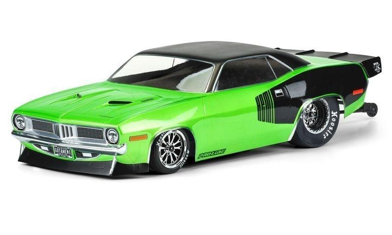 Pro-Line 1972 Plymouth Barracuda Karo klar für Slash 2WD