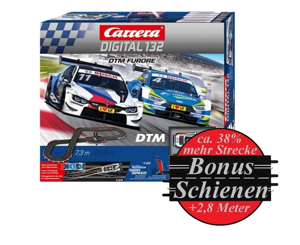 Carrera Digital 132 DTM Furore --SPARSET 2-- incl. Bonus-