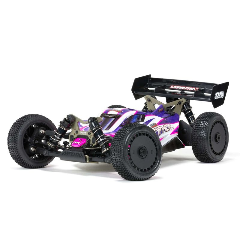 Arrma 1/8 TLR Tuned TYPHON 4WD Roller Buggy, Pink/Purple