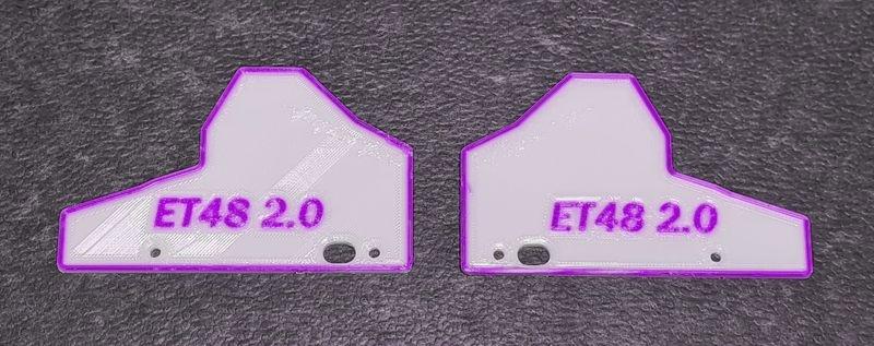 JS-Parts Mudguards ultraflex für Tekno ET48 2.0 weiß/lila